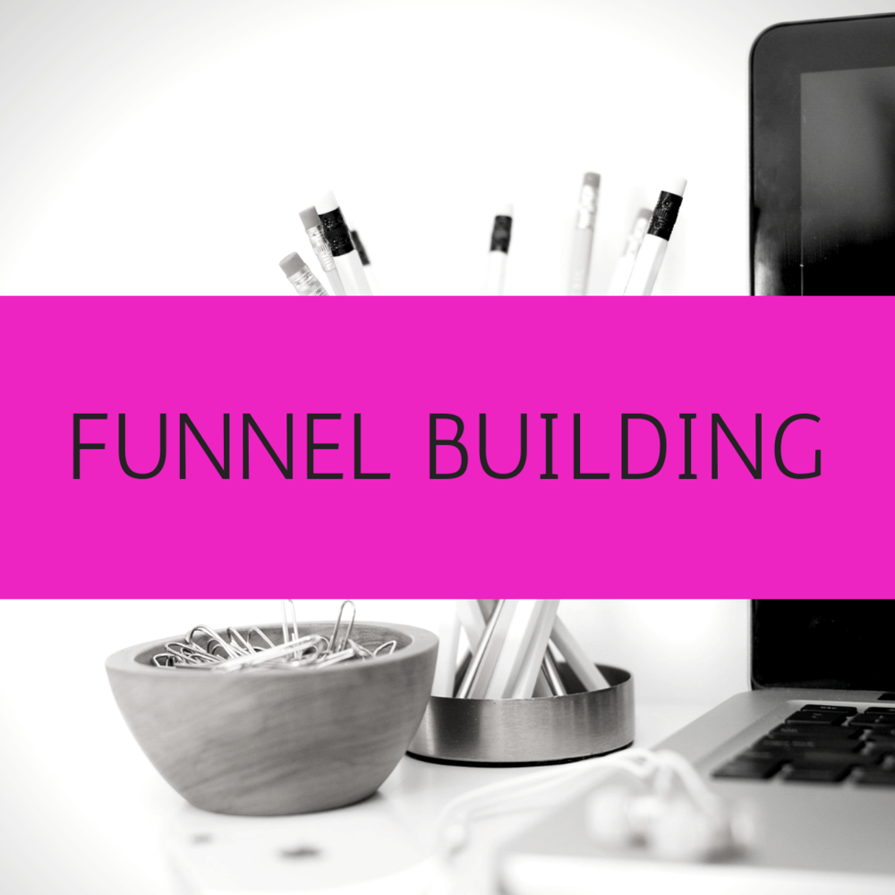 Funnel Building - Does the thought of creating your funnel, from email capture to client conversion feel you with dread? Tech is just not your thing and this is something you keep putting off and putting off?! Let me help!