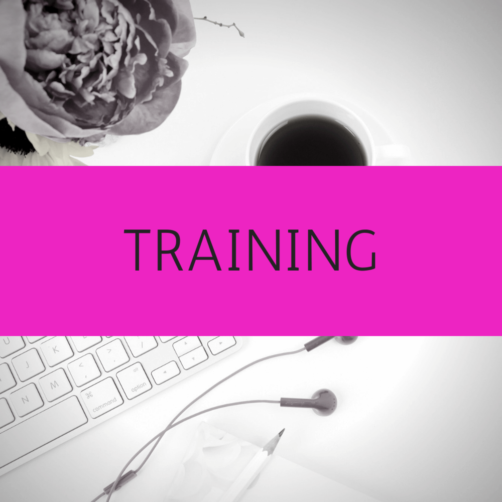Training - I also offer training on any of these topics, as well as on any marketing systems that you need a bit of extra help with. For example Canva, Mailchimp, Mailerlite, Trello, Asana or Squarespace.