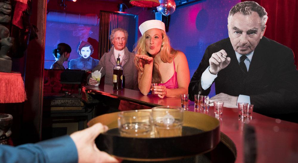 Mit Dichtern an der Bar
