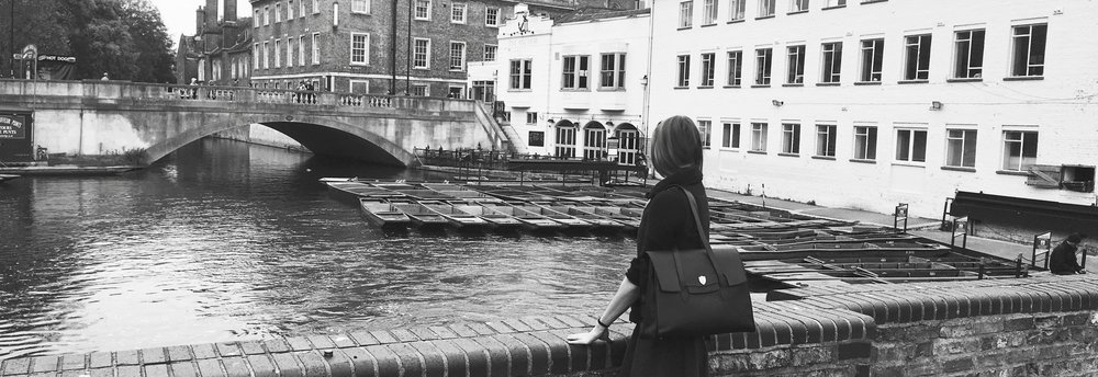 Looking over the Mill Pond to c1209's offices in the heart of Cambridge, England.