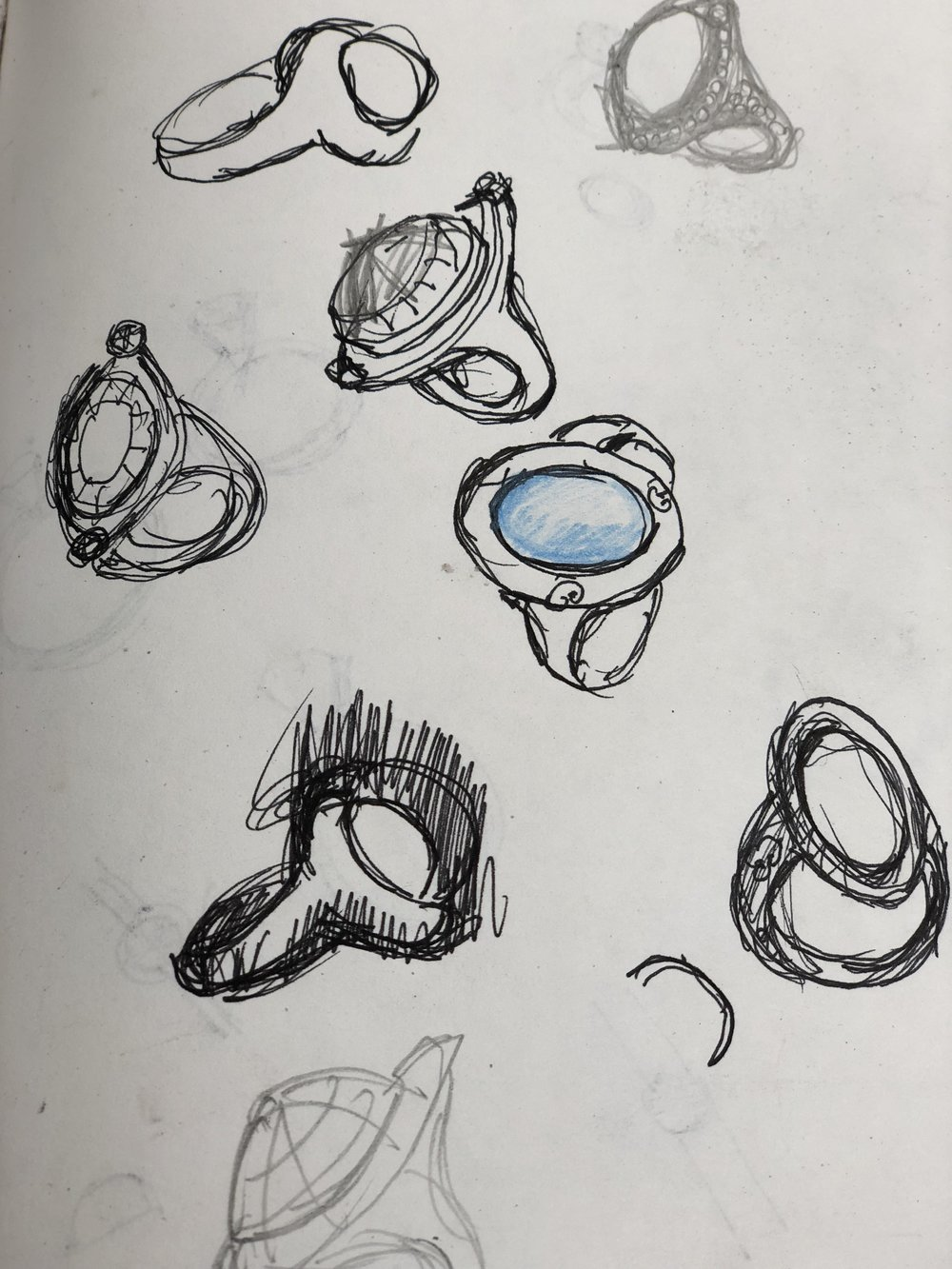 a quick sketch of ring deigns