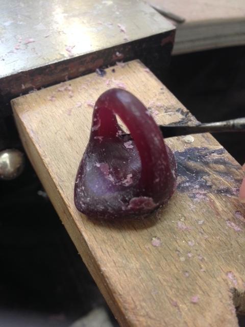 working on the wax moel