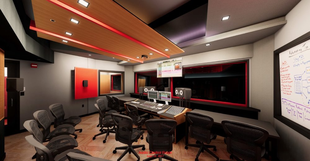 RPI Audio Control Room designed by WSDG