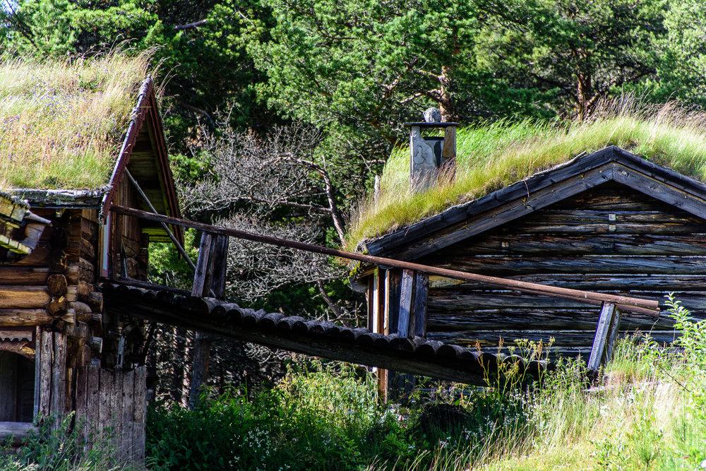 Foto: Ian Brodie- De gamle seterhusene