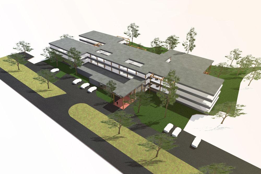 modern woonzorg complex -