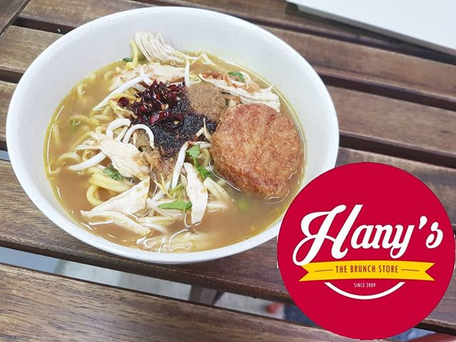Come on down now to our cafe located at Tampines Blk 406 #01-23 and try our hot steaming Mee Soto! Its succulent chicken meat makes it enjoyable for you, your family and friends!  If you would like us to provide sumptuous food for your event, production or filming, do contact us at +65 65898478 or +65 90034209 or you may email us at hello@hanysthebrunchstore.com  Visit our store at :- HANY'S TheBrunchStore 406 Tampines St 41 #01-23 Hello@hanysthebrunchstore.com www.hanys.sg  #foodieguide #fooddelivery #foodcatering #halalfood #halalfooddelivery #burpple #sgeats #tampinesgotwhat #HanysSG #hanysthebrunchstore #catering #supportlocal #deliciousfood #breakfastonthego #breakfast #breakfastpack #breakfastpackage #eggmayosandwich #currypuff #meal #food #halal #singapore