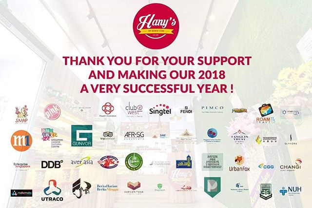 We thank you all for an amazing 2018! May the new year bring more prosperity and greatness to everyone! Happy new year from us at HANY'S TheBrunchStore!  #foodieguide #fooddelivery #foodcatering #halalfood #halalfooddelivery #burpple #sgeats #tampinesgotwhat #HanysSG #hanysthebrunchstore #catering #supportlocal #deliciousfood #breakfastonthego #breakfast #breakfastpack #breakfastpackage #eggmayosandwich #currypuff #exploresg #eventrefreshments #eventcatering #packedfood #corporatebreakfast #breakfastmeetings #breakfastinsingapore