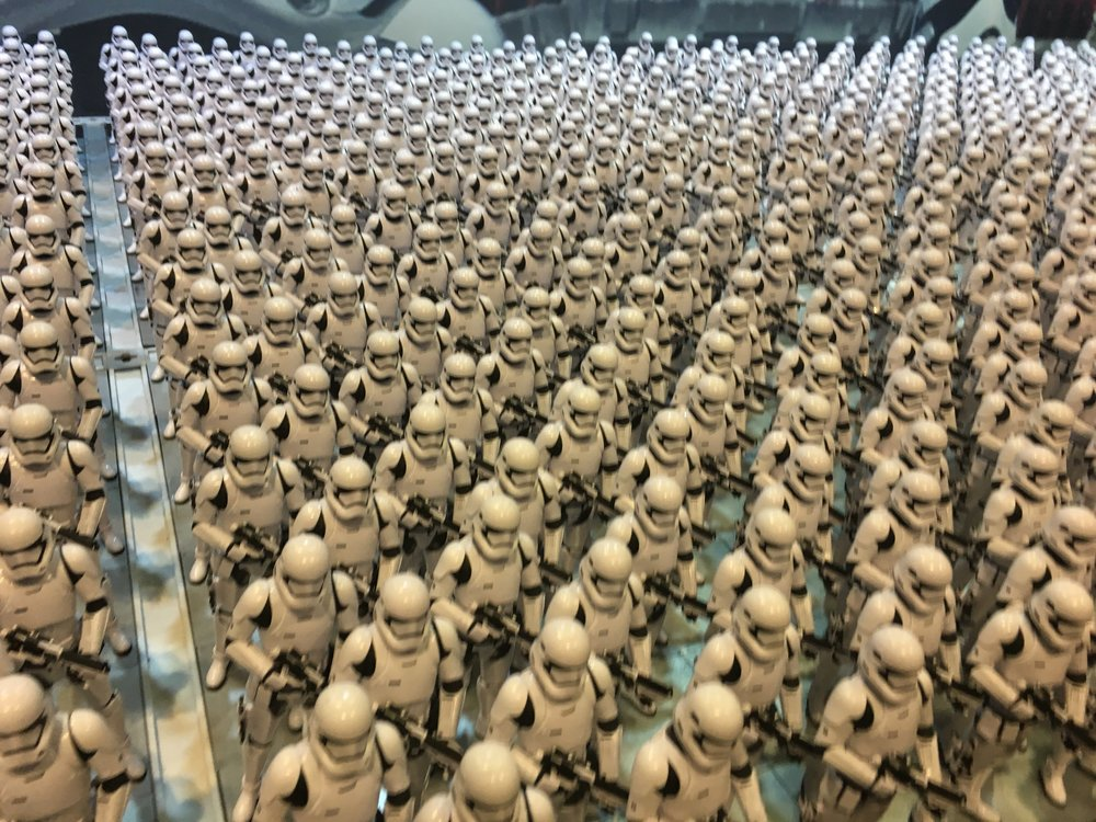 Need a storm trooper? Someone had to set up this display that had over 1,500 storm trooper models set up as a garrison