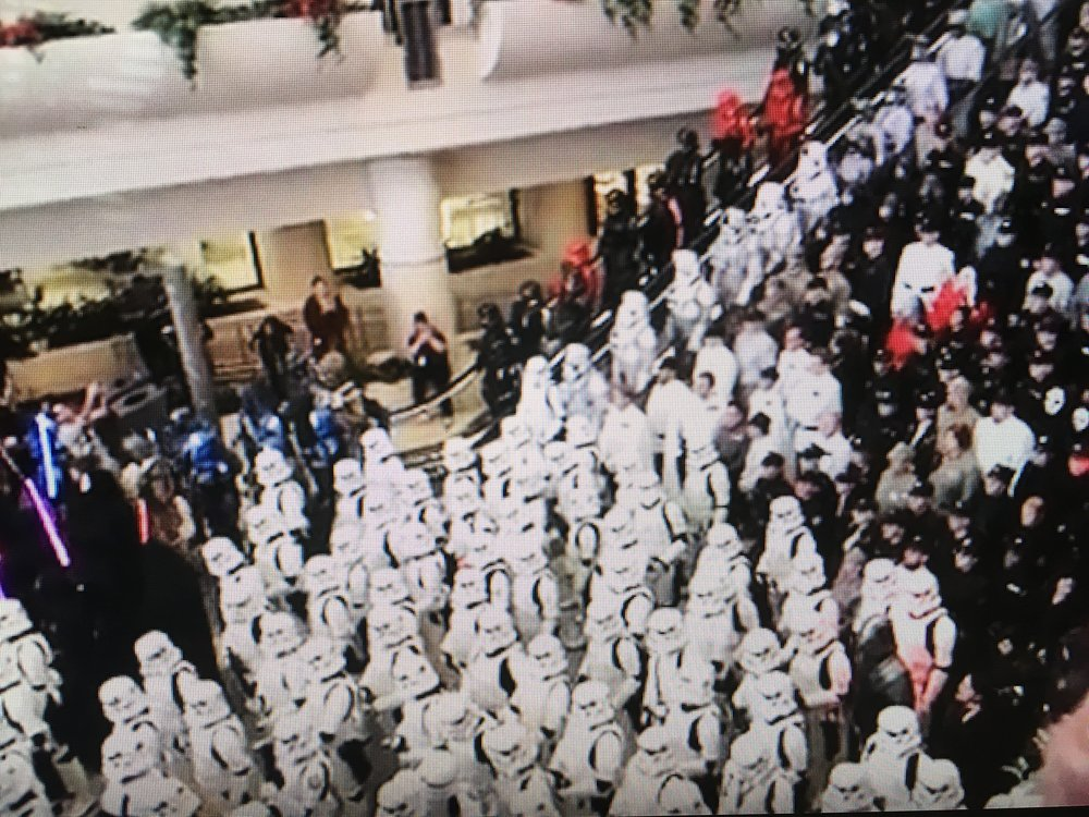 501st was there in full force. Nearly 1,000 actual members came in costume