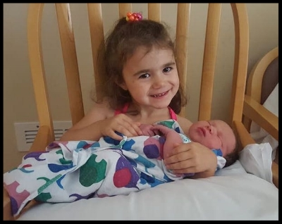 I think the most excited in welcoming Avery to the world was her sister Ariana.