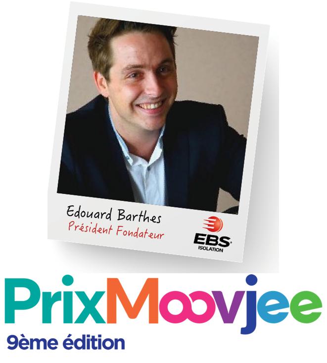Pour la première fois, un ancien lauréat parraine une mention spéciale ! - Cette année, Edouard Barthès, lauréat du «Grand Prix Moovjee 2016 » parraine la mention «Engagement Citoyen » et y apporte une touche plus verte.
