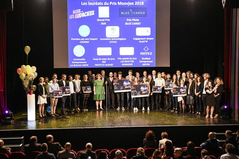 Les lauréats du Prix Moovjee 2018 sont connus ! - Parmi les 300 dossiers validés pour cette 9e Édition, neuf d'entre eux ont été récompensés lors de la cérémonie de remise du Prix Moovjee 2018 !