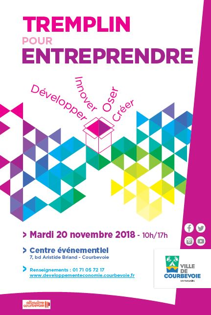Tremplin pour entreprendre - « Tremplin pour Entreprendre » est l'un des rares salons des Hauts-de-Seine porté par une collectivité locale et consacré au conseil et à l'accompagnement des créateurs et jeunes entreprises dans le cadre de leurs démarches entrepreneuriales ou de développement.