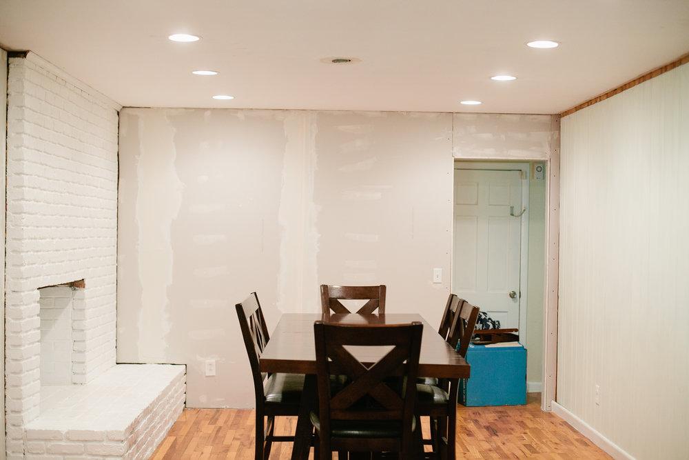 dining room progress