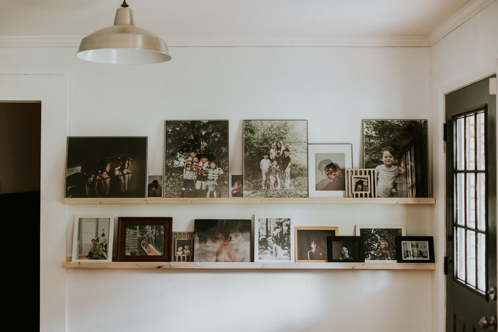 DIY PHOTO LEDGE WALL THIS MINIMAL HOUSE BLOG