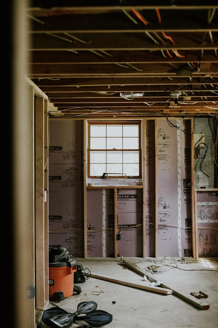Refinishing our basement. www.thisminimalhouse.com