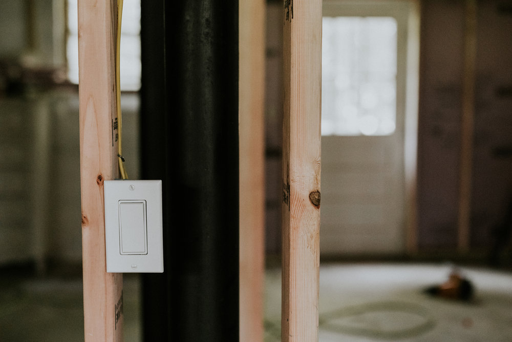 Refinishing your own basement. www.thisminimalhouse.com