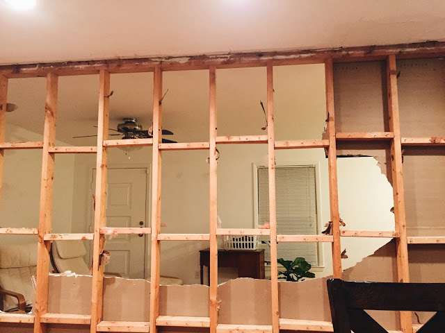 REMOVING A LOAD BEARING WALL, AND INSTALLING AN LVL BEAM. www.thisminimalhouse.com