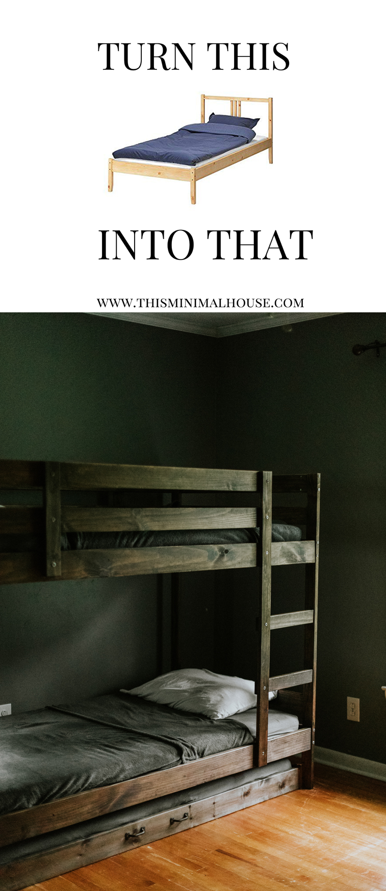 TURN THIS IKEA BED INTO THAT #ikeahack www.thisminimalhouse.com