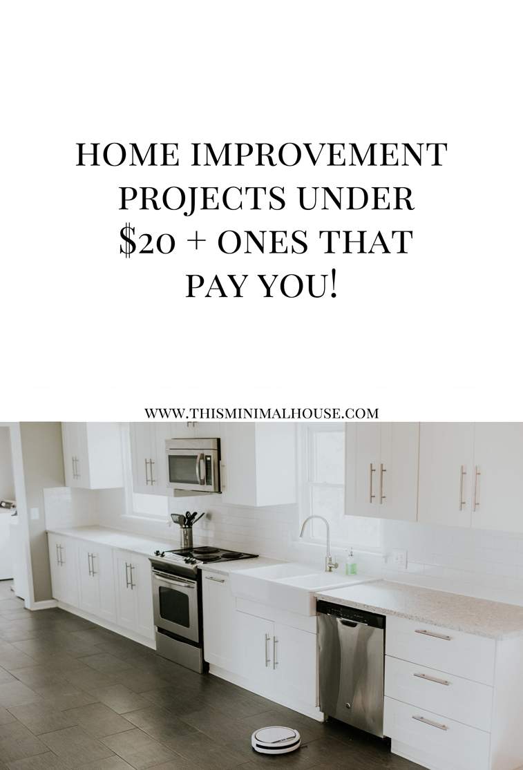 HOME IMPROVEMENT PROJECTS UNDER $20 + ONES THAT PAY YOU! www.thisminimalhouse.com