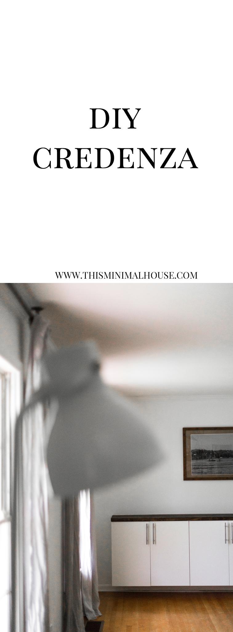 BUILD A CREDENZA www.thisminimalhouse.com