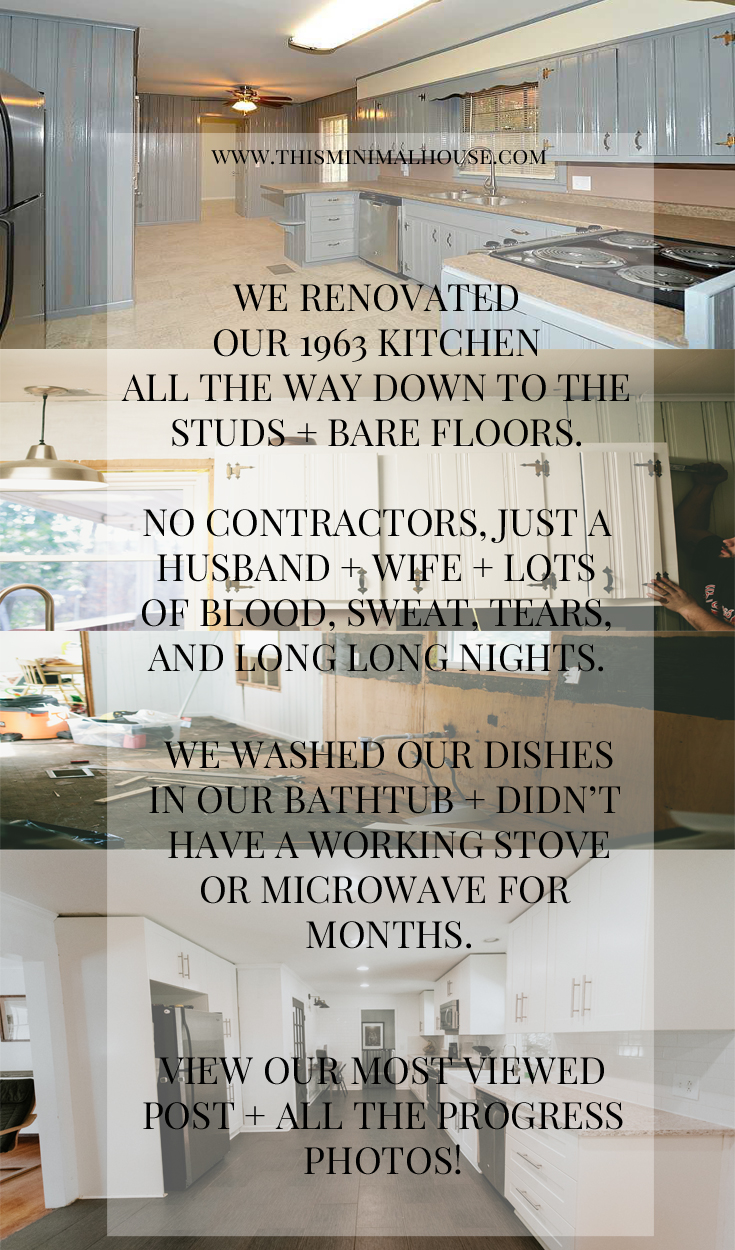 OUR KITCHEN RENOVATION PROGRESS PHOTOS www.thisminimalhouse.com