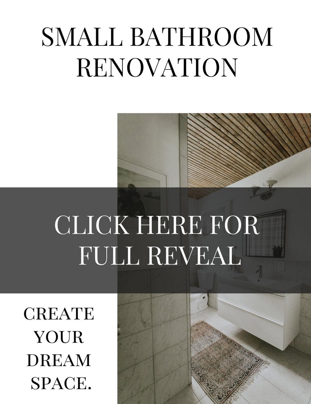 SMALL BATHROOM RENOVATION www.thisminimalhouse.com