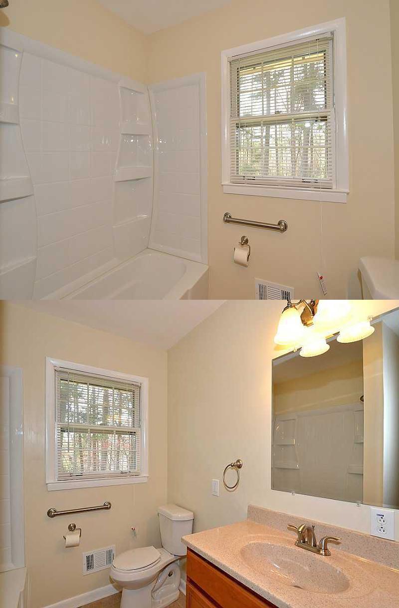 Bathroom before modern transformation