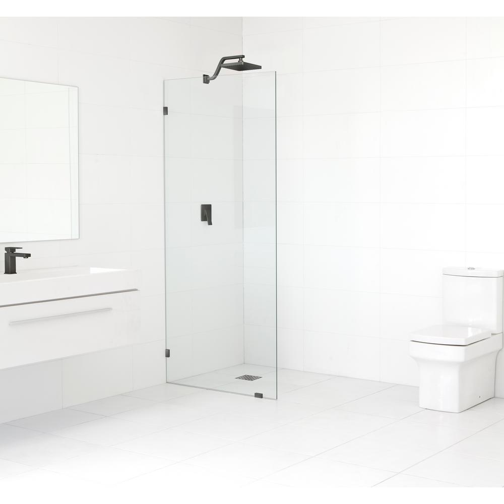 SMALL BATHROOM GLASS SHOWER DOOR