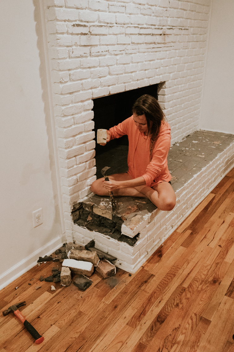 HOW TO REMOVE A FIREPLACE HEARTH