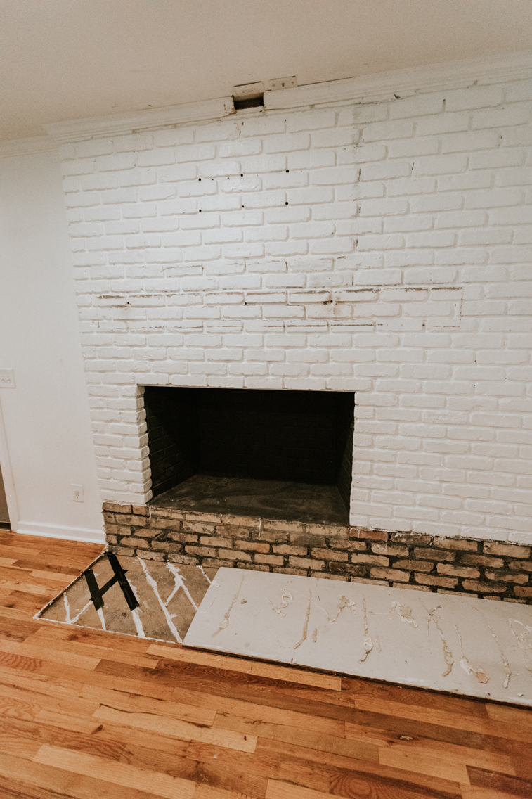 REMOVED FIREPLACE HEARTH