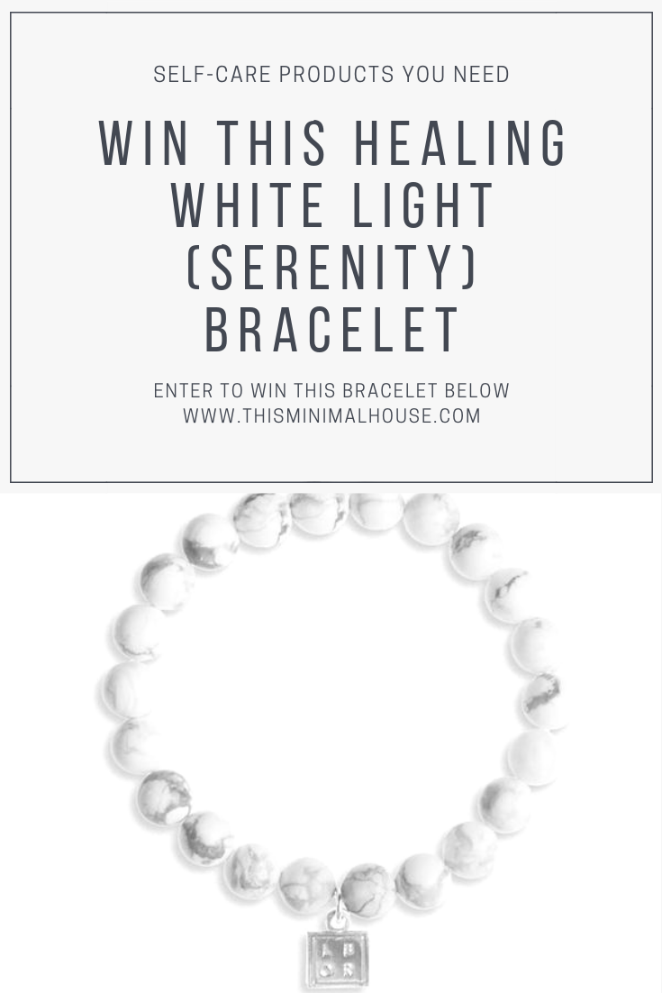 WIN THIS LITTLE BOX OF ROCKS WHITE LIGHT SERENITY BRACELET