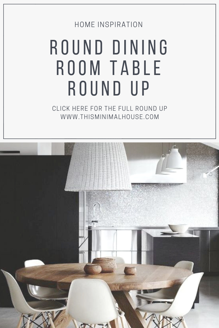 DINING ROOM TABLE ROUND UP