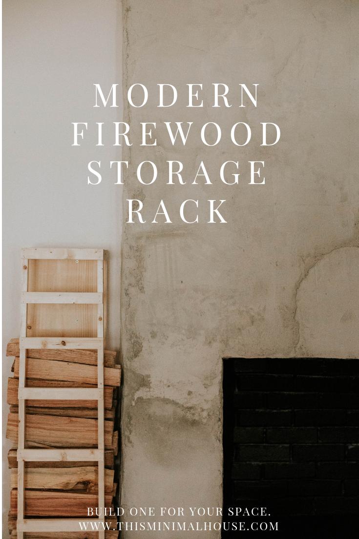 MODERN FIREWOOD STORAGE RACK