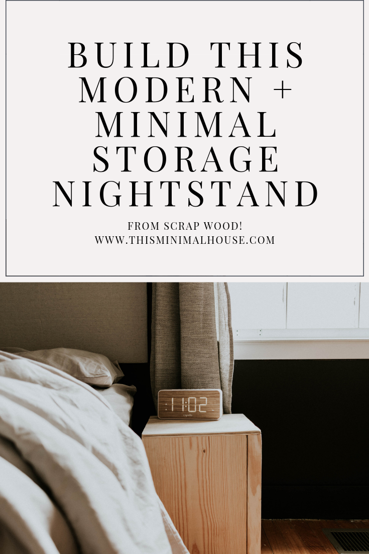 BUILD THIS diy modern and minimal storage nightstand from scrap wood