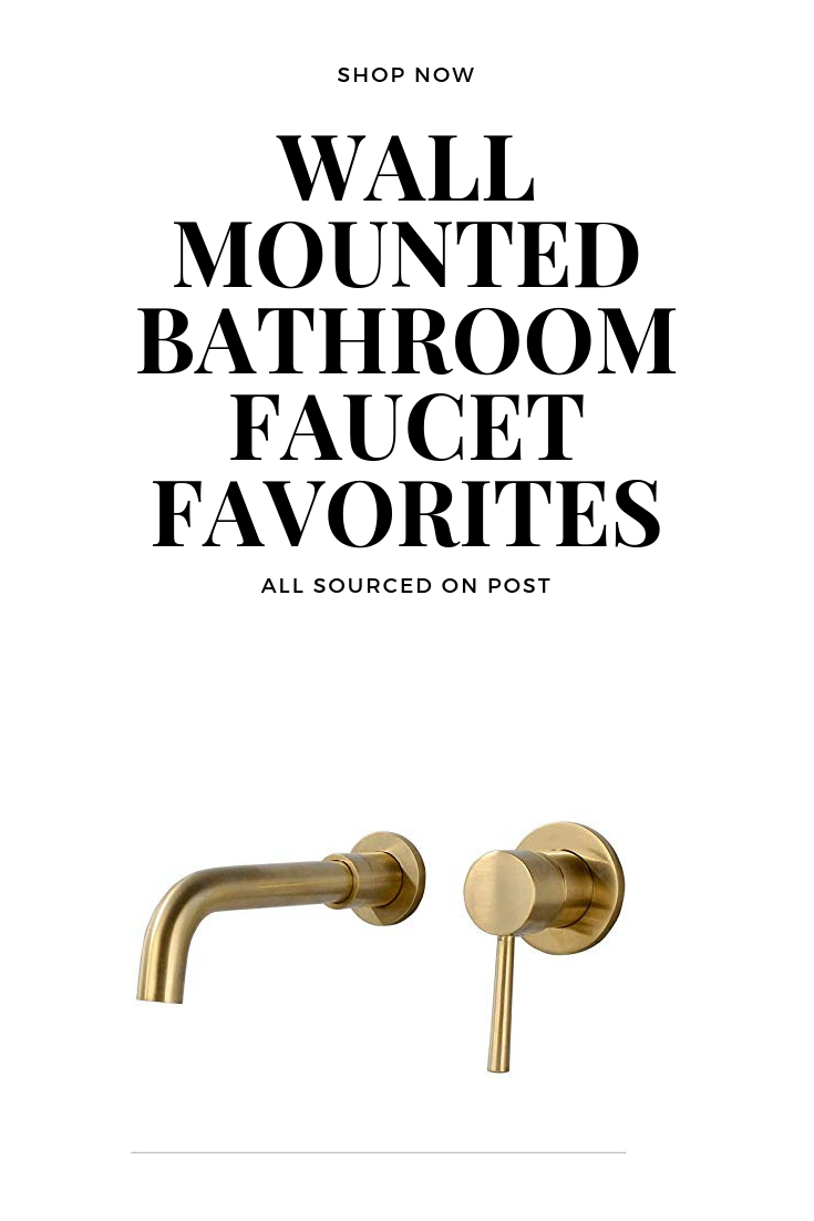 Wall mounted bathroom faucets! Shop now! All links sourced in post!