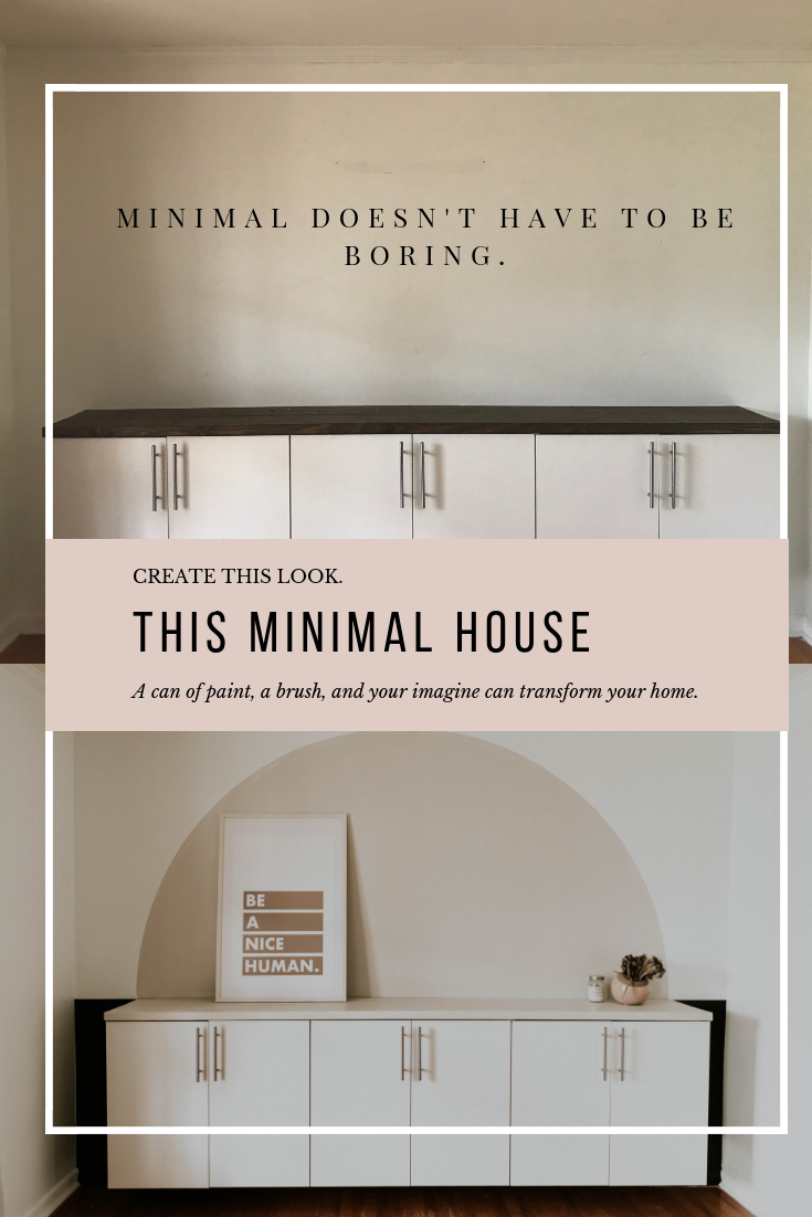 Minimal doesn't have to be boring! Create this look in your home!