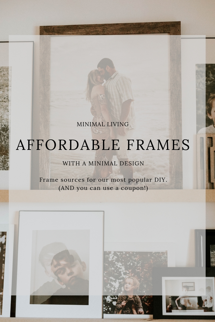 Affordable Minimal Frames for your home! Frame sources linked!