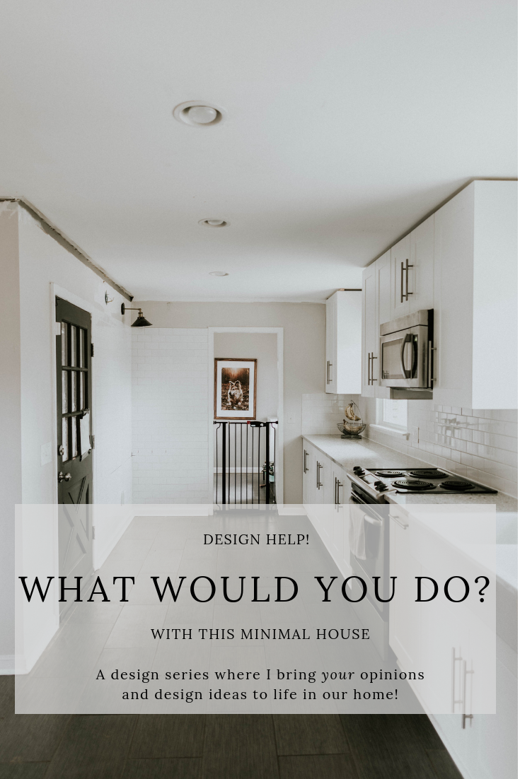 WHAT WOULD YOU DO?  A design series where I take YOUR opinions and design ideas and bring them to life in our home!