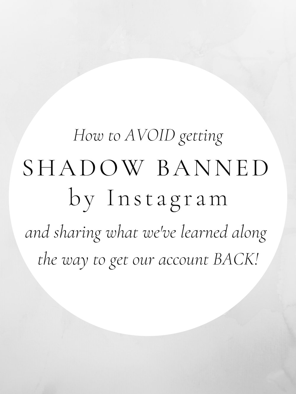 SHADOW BANNED ON INSTAGRAM