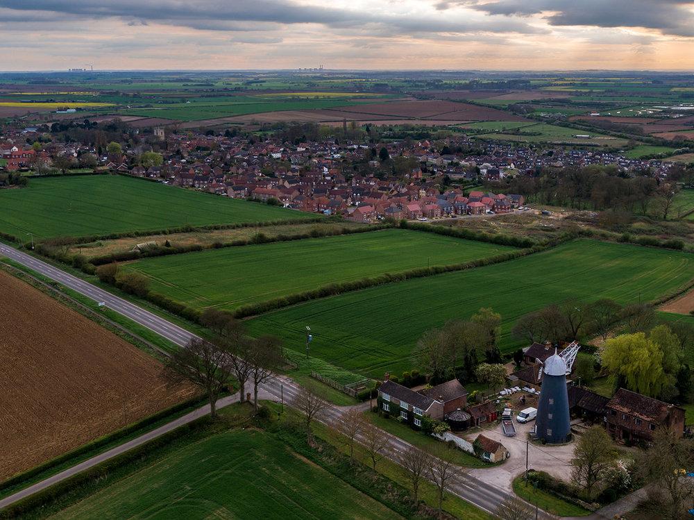 Kirton Lindsey aerial view