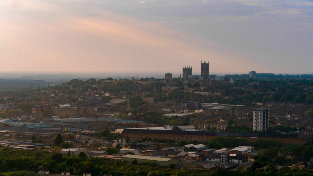 lincoln skyline sunset