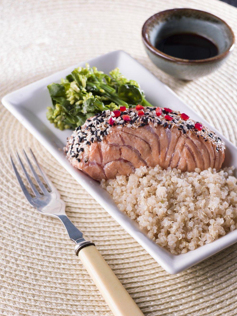 Miso Salmon w Quinoa, Kailan & Broccoli.jpg