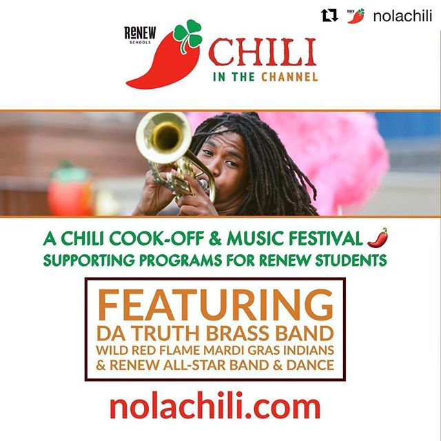Come out to SciTech tomorrow from 11 AM - 4 PM for Chili In The Channel! @nolachili ・・・ Chili + music. TOMORROW. #nolachili #nola #nolafests #IGersneworleans #neworleans #louisiana