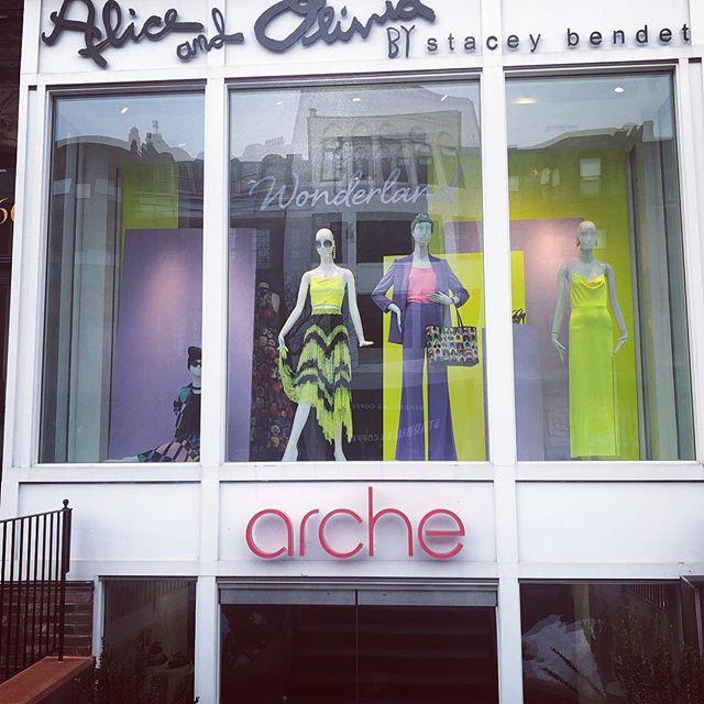 Some color to start the week.  @aliceandolivia always has one of the best windows on #newburystreet. #avantagenewbury #urbanmeritage #onlyonnewbury