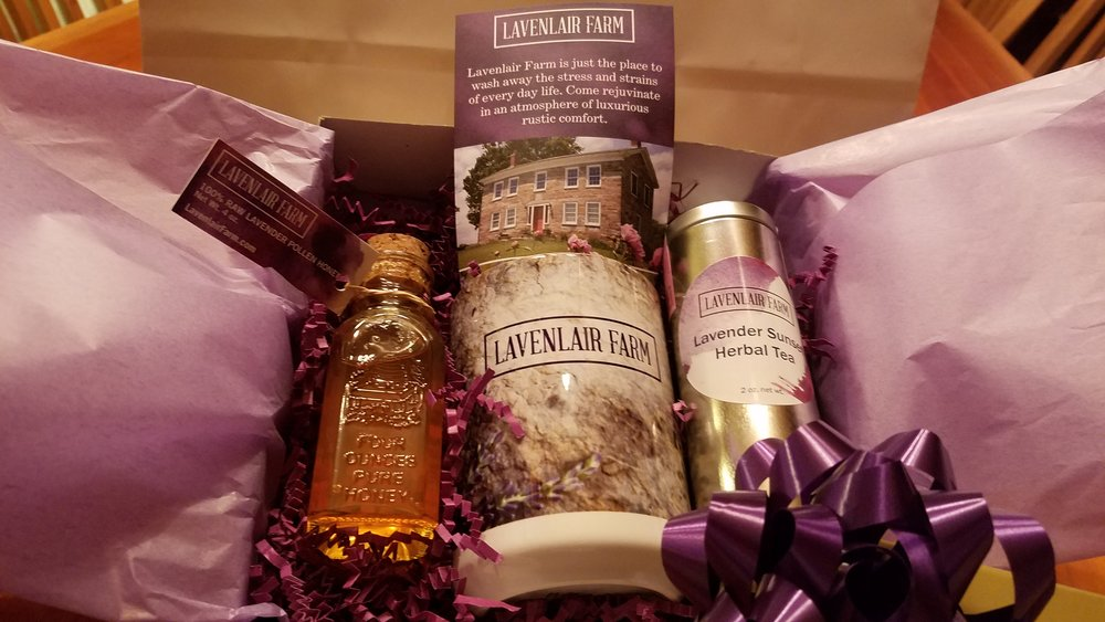 Lavender Tea & Lavender Honey gift set ($37 value) from Lavenlair Farm