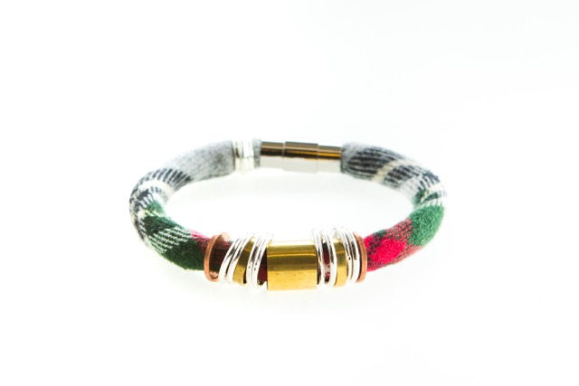 Razimus vintage tartan plaid MARIAN bracelet made from the softest vintage men's shirt ($48 vaule)