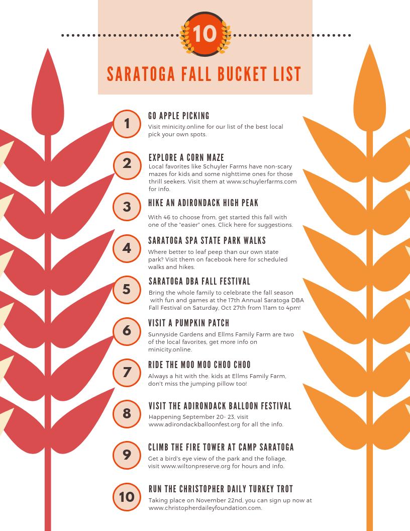 Mini City S Saratoga Fall Bucket List Mini City