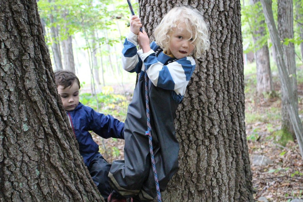 Exploring the world with their sense and bodies allows young children to develop much more than strength and balance. Countless studies have shown the importance of outdoor play to children's mental, intellectual and emotional development as well as physical.