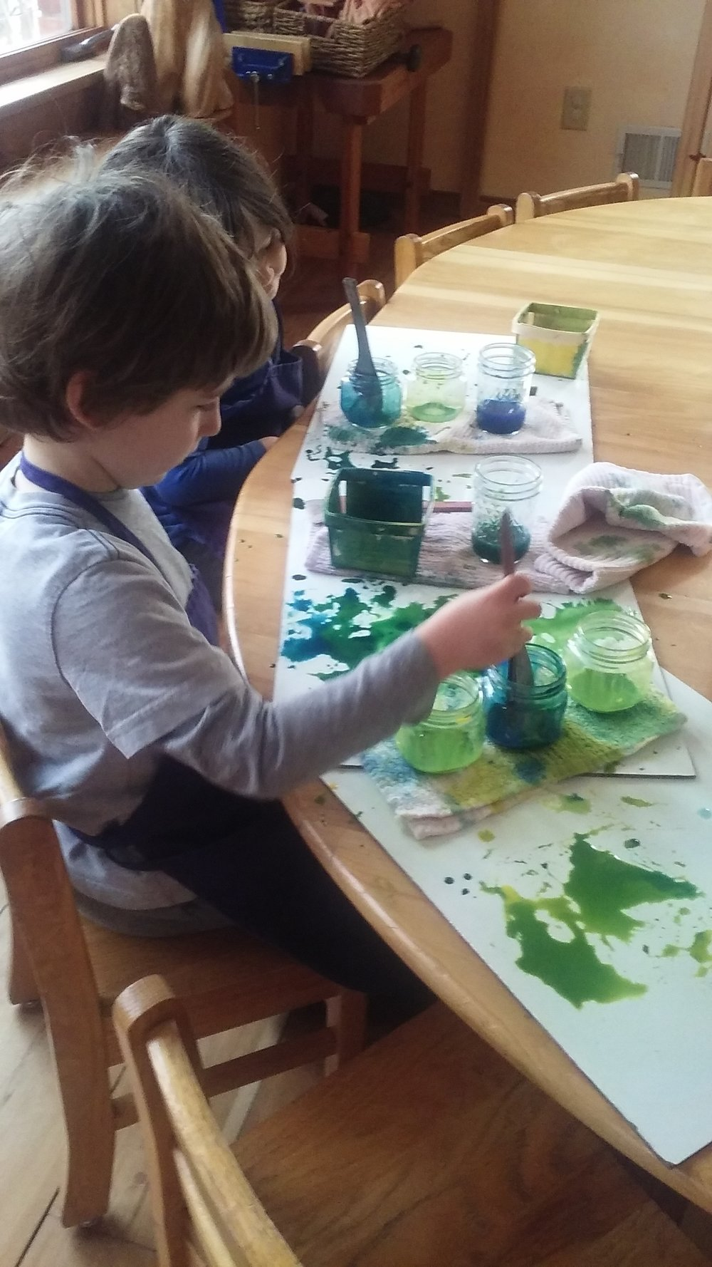 Artistic activities develop the senses and fine motor skills.